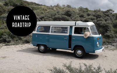 Roadtrip met vintage Volkswagen camper