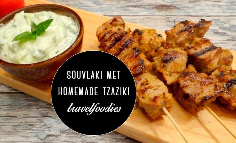 Travelfoodies: Griekse souvlaki met homemade tzaziki